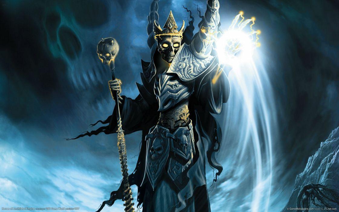 HEROES Annihilated Empires fantasy strategy rpg action fighting 1hoae elf elves series medieval magic reaper warrior skull artwork wallpaper