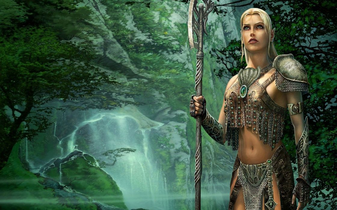 HEROES Annihilated Empires fantasy strategy rpg action fighting 1hoae elf elves series medieval warrior girl wallpaper