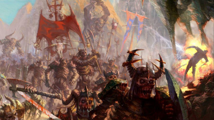 HEROES Annihilated Empires fantasy strategy rpg action fighting 1hoae elf elves series medieval warrior battle dark monster skull artwork wallpaper