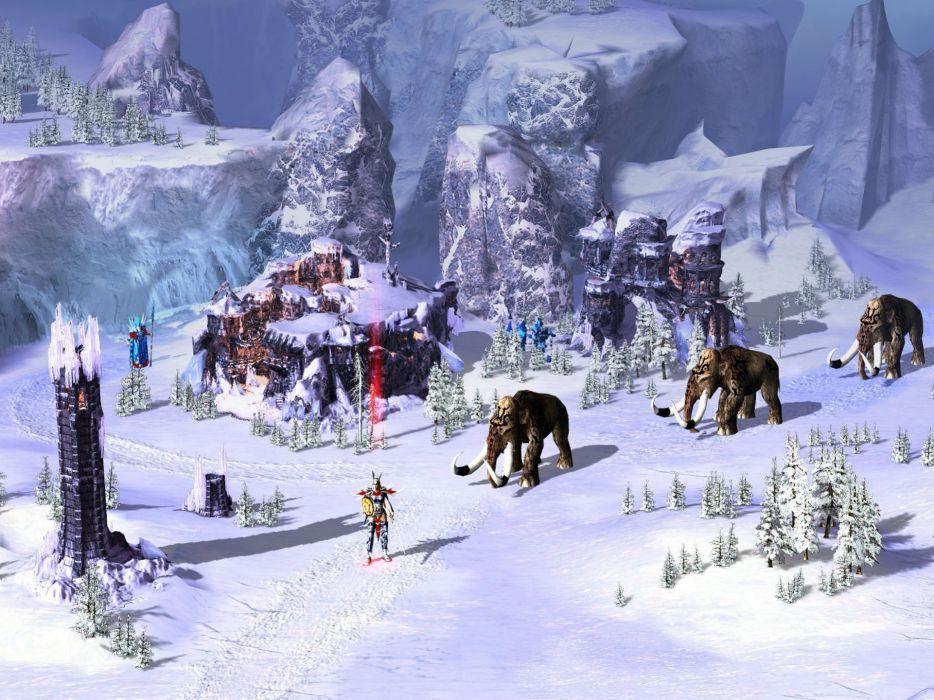 HEROES Annihilated Empires fantasy strategy rpg action fighting 1hoae elf elves series medieval warrior winter elephant detail wallpaper