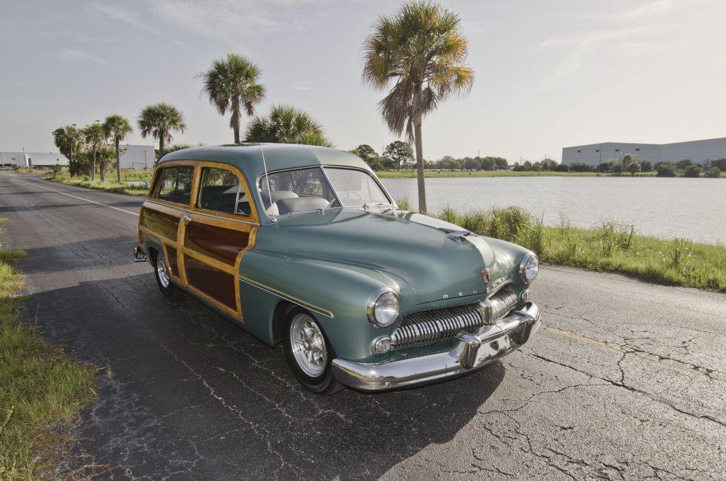 1949 Mercury Woody Wagon Hotrod Streetrod Hot Rod Street USA Old Retro USA 4200x2800-02 wallpaper