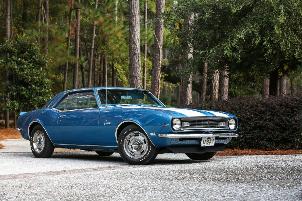 1968 Chevrolet Camaro Z28 Muscle Classic USA 4200x2800-02 wallpaper