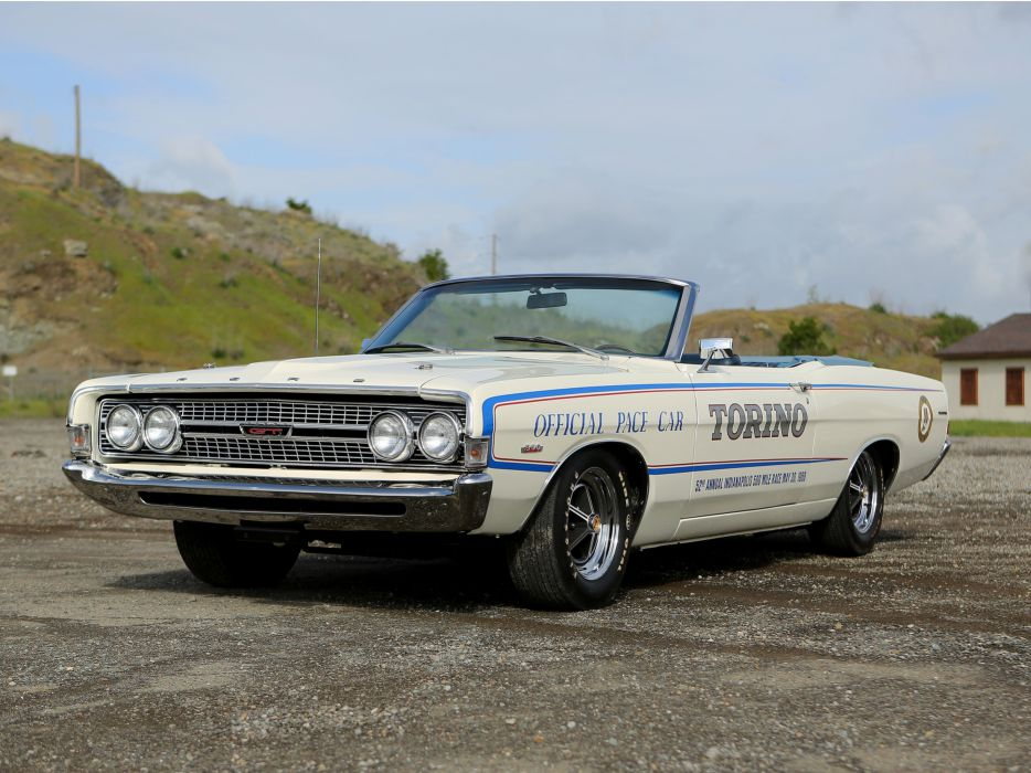 1968 Ford Torino GT Pace Car Edition Convertible Muscle Classic USA 4200x3150-01 wallpaper