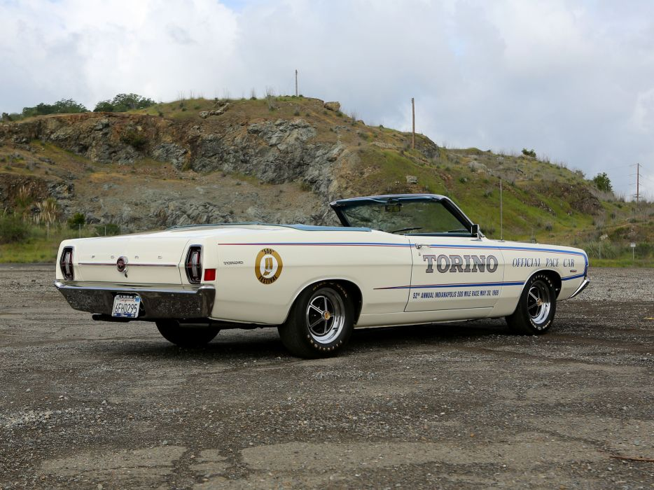1968 Ford Torino GT Pace Car Edition Convertible Muscle Classic USA 4200x3150-03 wallpaper