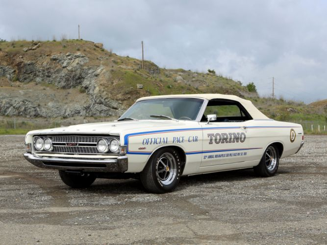 1968 Ford Torino GT Pace Car Edition Convertible Muscle Classic USA 4200x3150-05 wallpaper