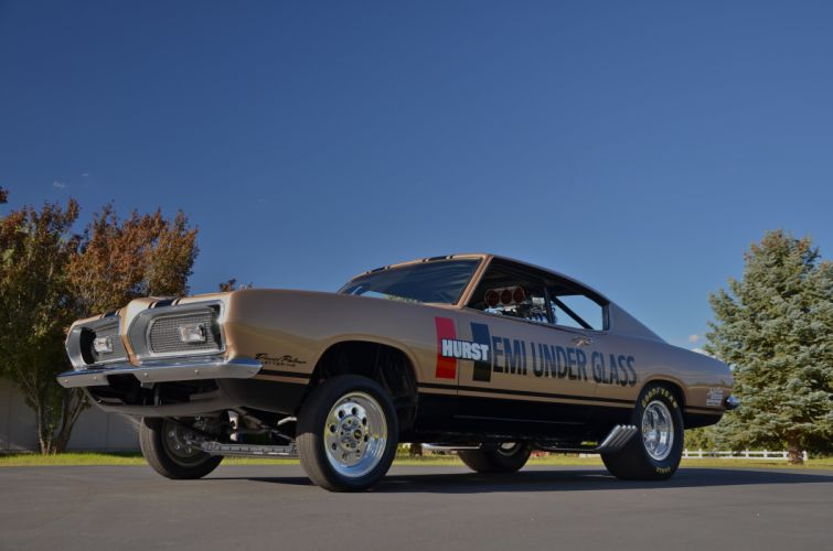 1969 Plymouth Barracuda Hurst Hemi Under Glass Dragster Drag Race USA 4200x2790-01 wallpaper