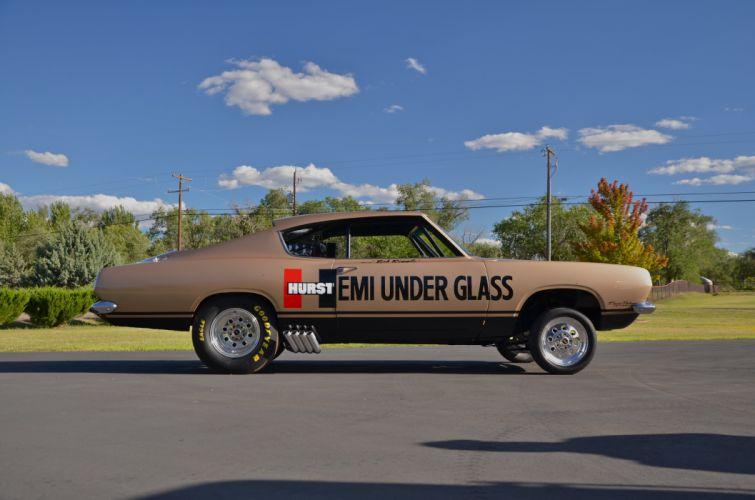 1969 Plymouth Barracuda Hurst Hemi Under Glass Dragster Drag Race USA 4200x2790-04 wallpaper