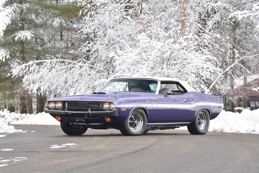 1970 Dodge Challenger RT Convertible Muscle Classic USA 4200x2800-05 wallpaper