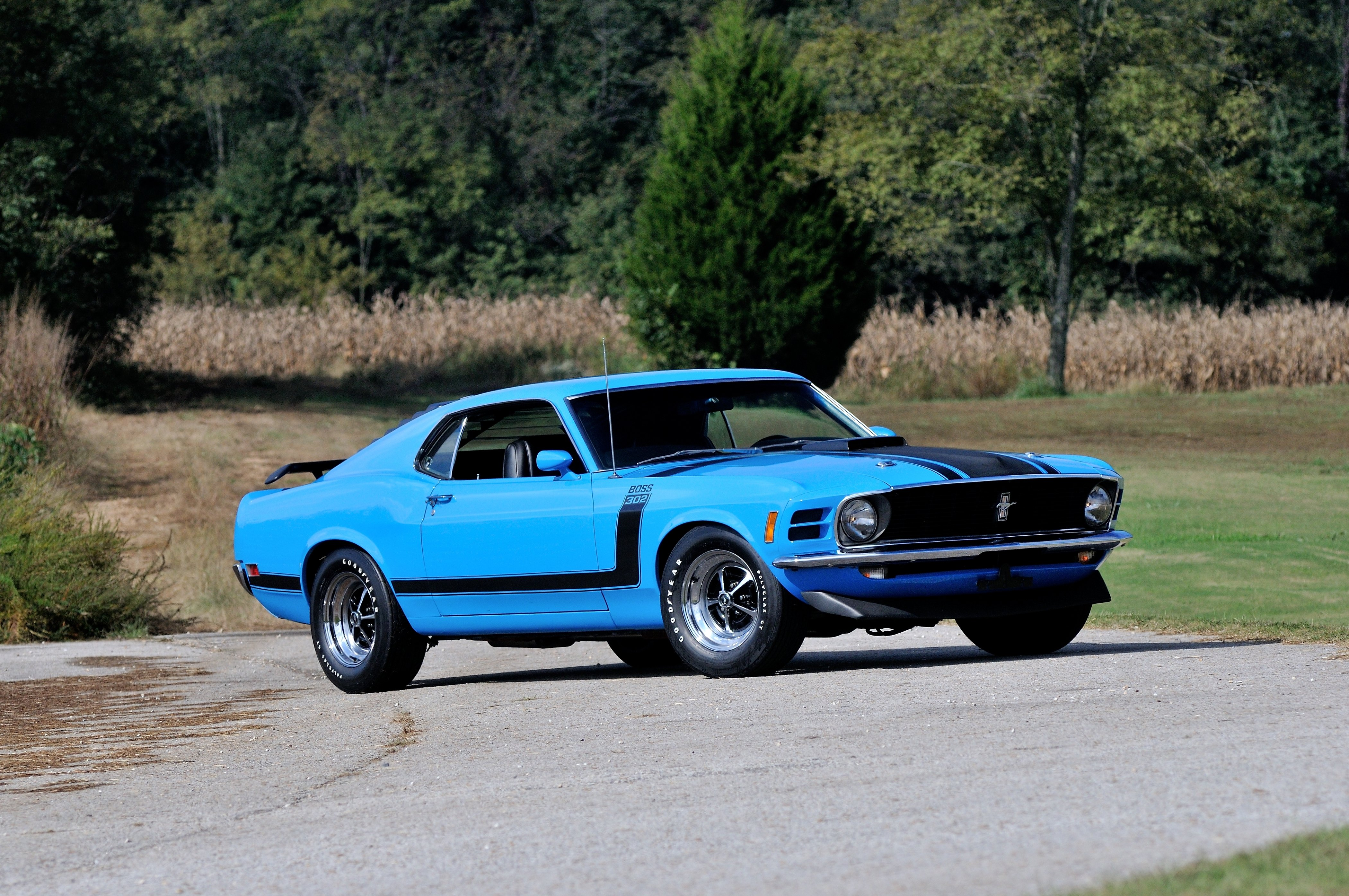 1970 Ford Mustang Boss 302 Fastback Muscle Classic Usa 4200x2790 05 Gt Wallpaper 647533 Wallpaperup