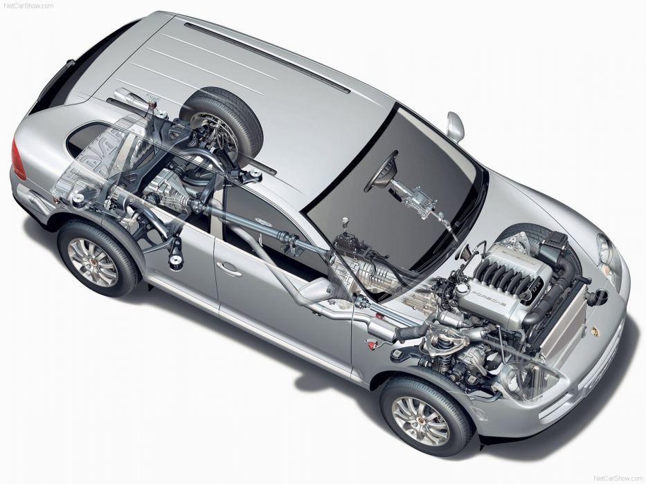 Porsche Cayenne suv cars 2004 technical wallpaper