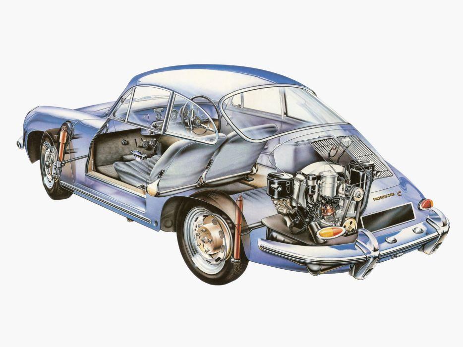 Porsche 356C 1600 Coupe 1963 cars wallpaper