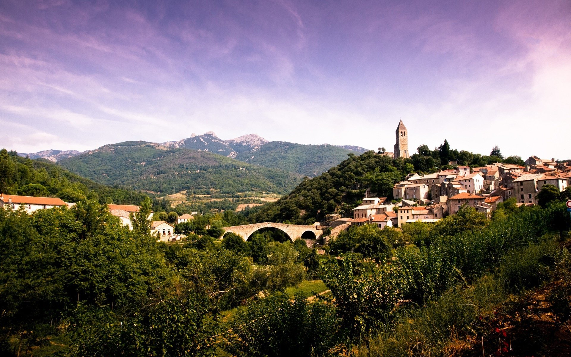 France French Church Town Village City Cities Wallpaper