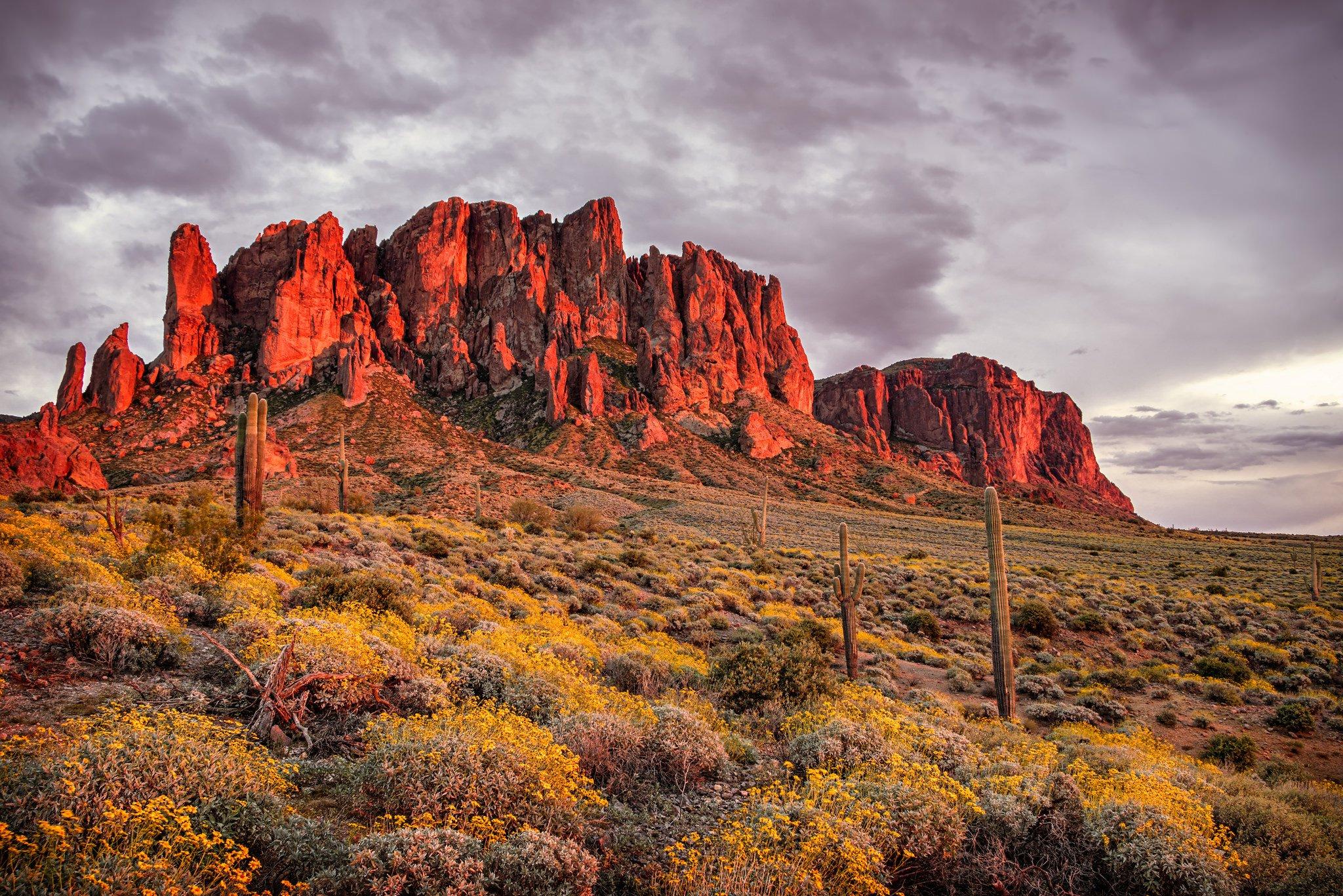wallpaper sunset mountain arizona - photo #46