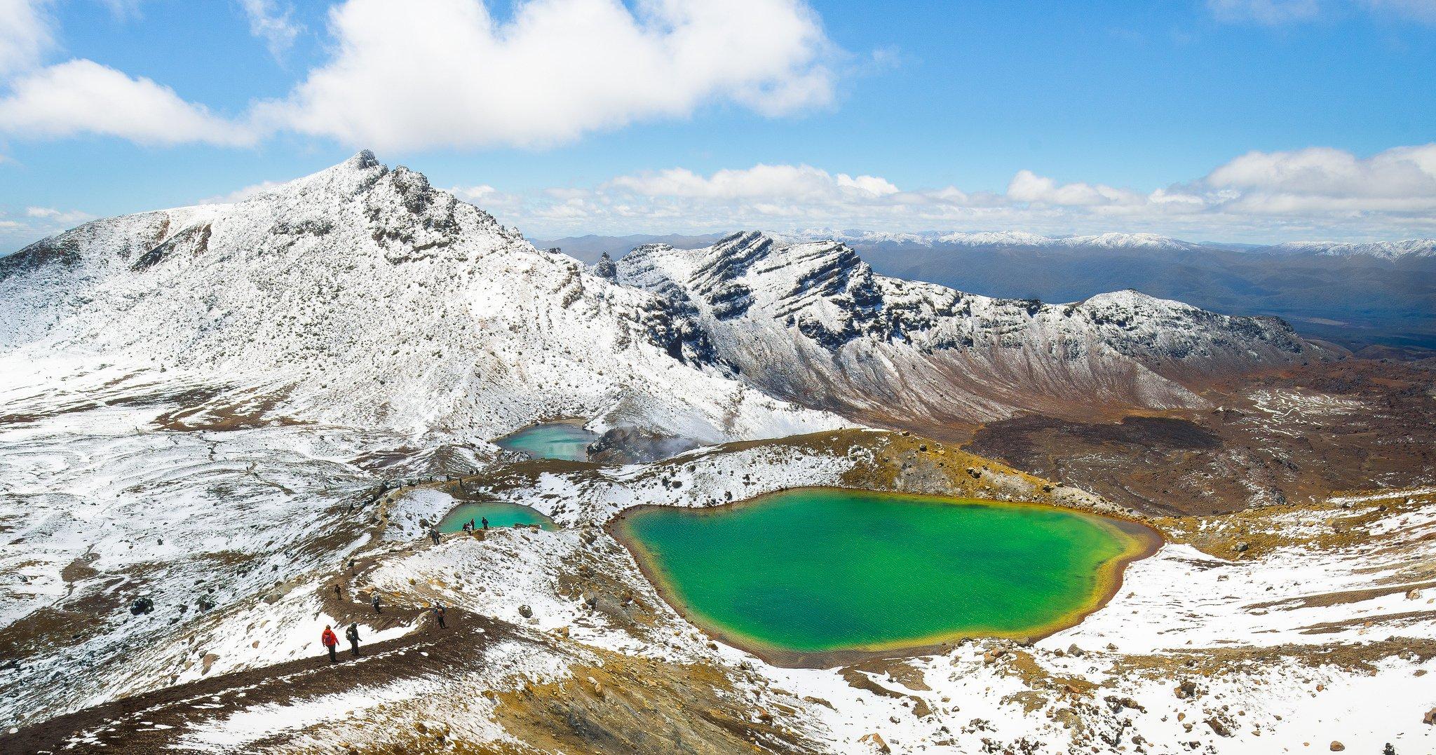 Tongariro National Park New Zealand  city photos gallery : Mountain lake snow Tongariro National Park North Island New Zealand ...