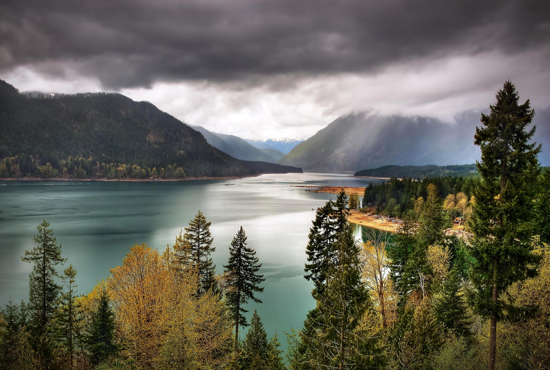 Sky Olympic National Park Lake Usa Washington Wallpaper