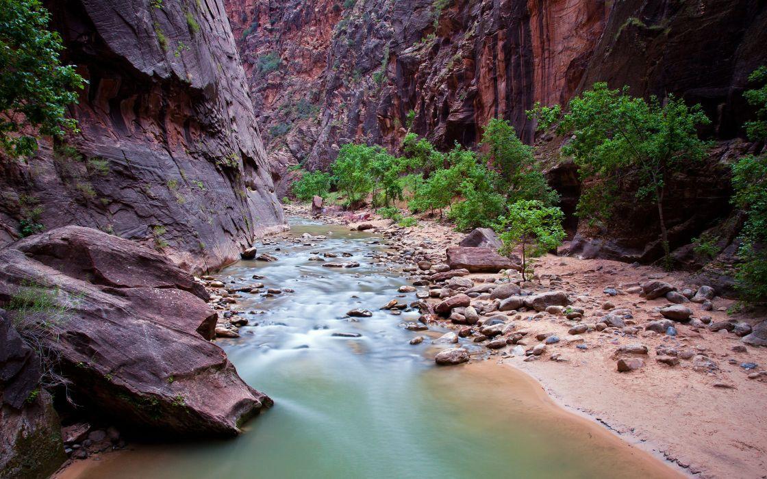 river rock zion national park canyon utah wallpaper