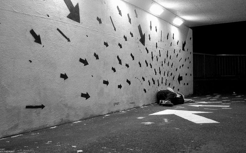 arrows arrow black white urban wallpaper
