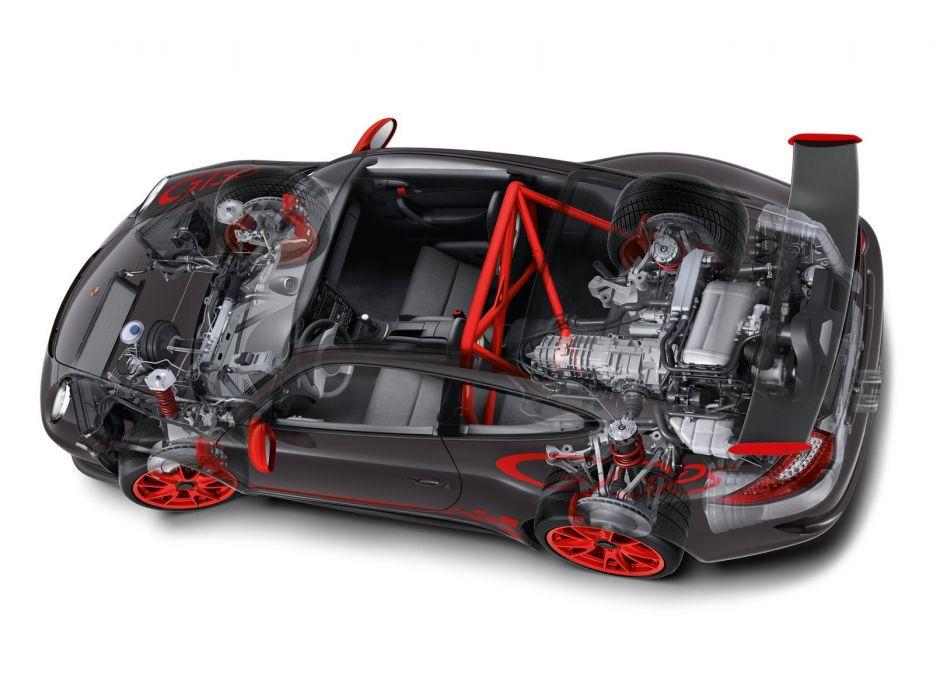 Porsche 911 GT3 R S cars 997 technical wallpaper