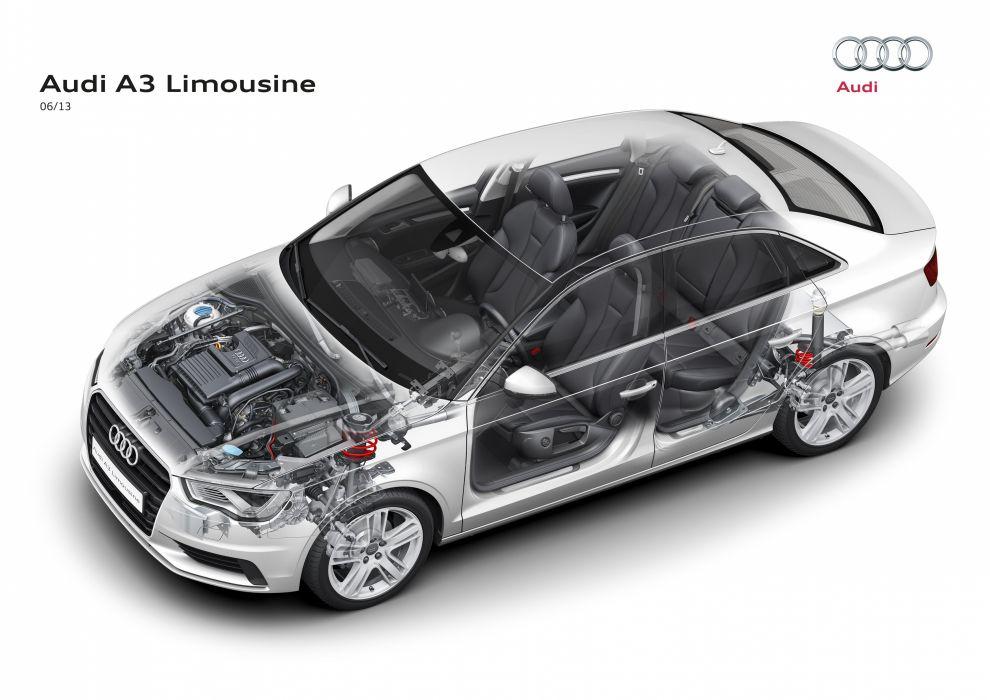 Audi A 3 sedan cars technical wallpaper