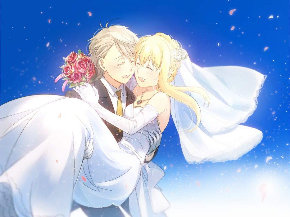aki (neyuki41028) aldnoah zero asseylum vers allusia flowers gradient necklace petals rose slaine troyard wedding wedding attire wallpaper