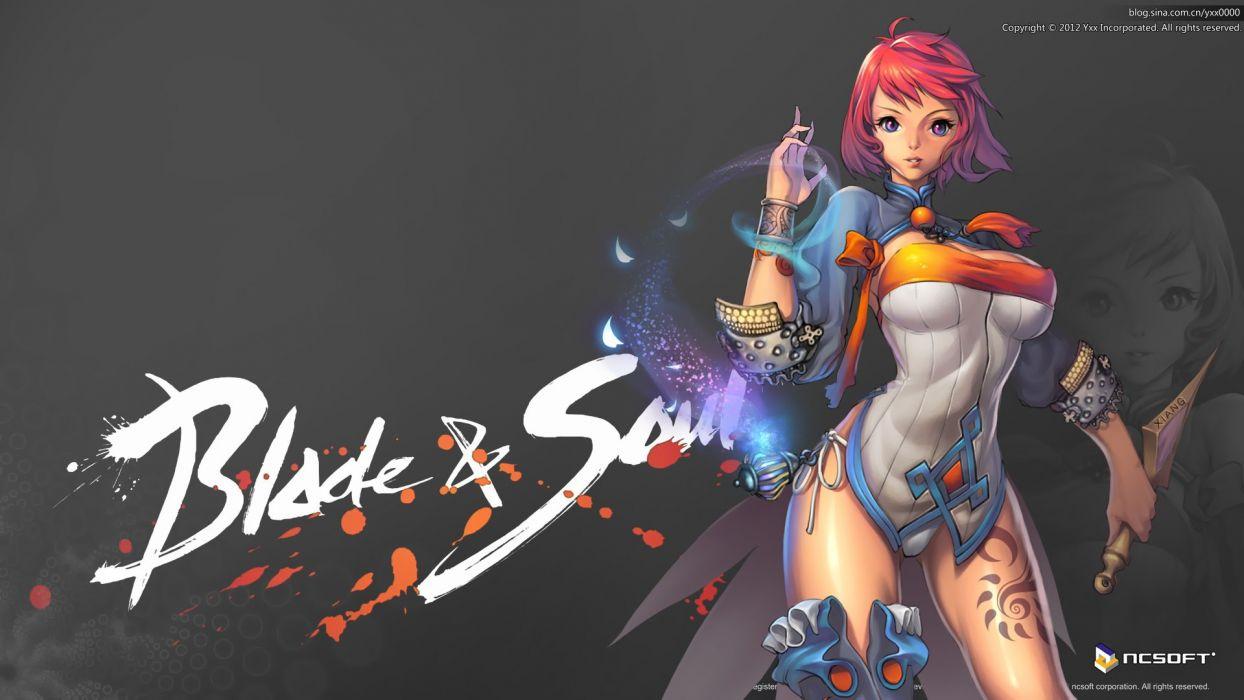 blade & soul panties red hair short hair tagme (character) thighhighs underwear xiang wallpaper