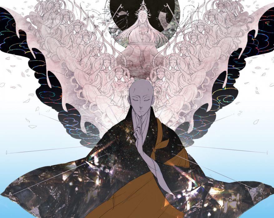 Houseki no Kuni KongAa-sensei Floating Bald Floating Clothes wallpaper