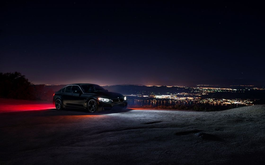car ligth m3 city nigth sky black bmw front f80 wallpaper