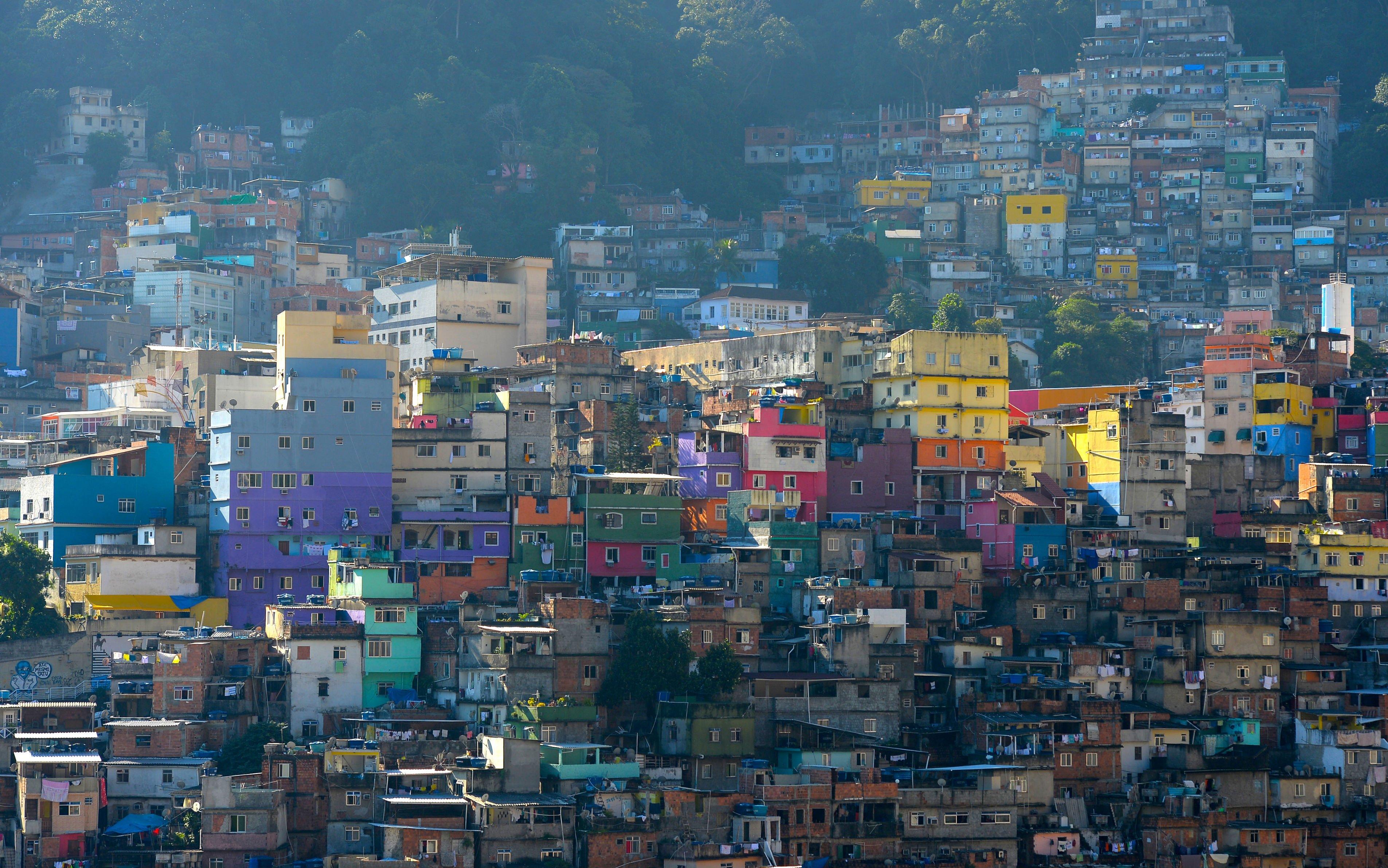 Brazil City Rio Wallpaper Favela Brazil Rio de Janeiro