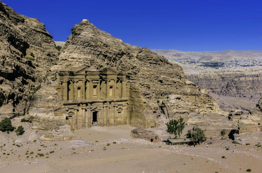 petra jordon mountains arab earth desert rocks stones Tourism history archaeological architecture Geography Ancient Sculpture landscapes nature wallpaper