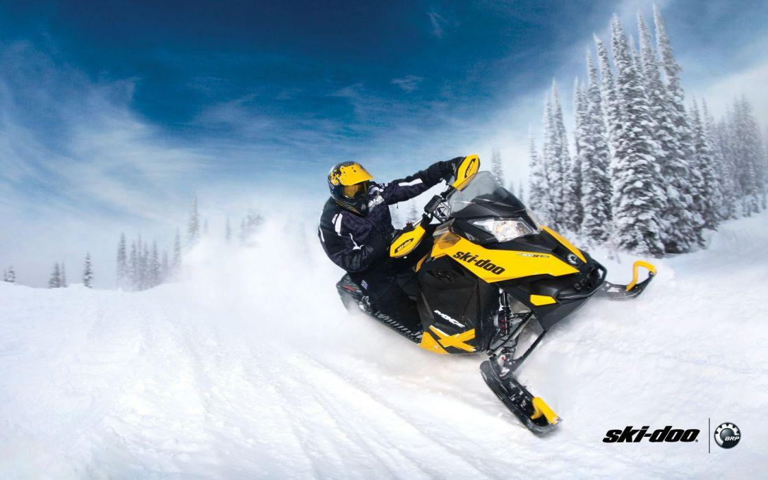 ski doo wallpaper  SKI-DOO snowmobile sled ski doo winter snow extreme wallpaper ...