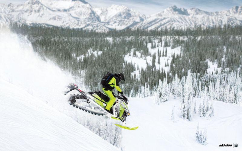 SKI-DOO snowmobile sled ski doo winter snow extreme wallpaper