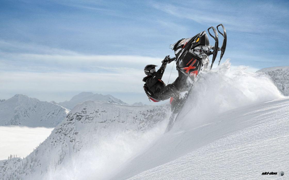 SKI-DOO snowmobile sled ski doo winter snow extreme wallpaper ... aaf287baa47