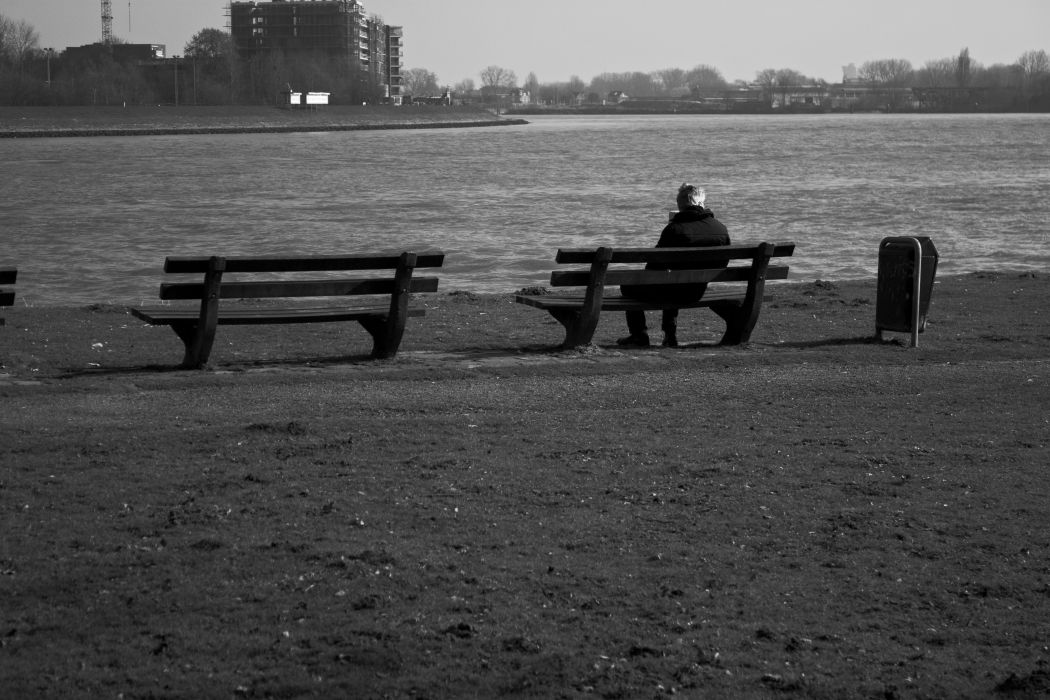 lonely mood sad alone sadness emotion people loneliness Solitude bench wallpaper
