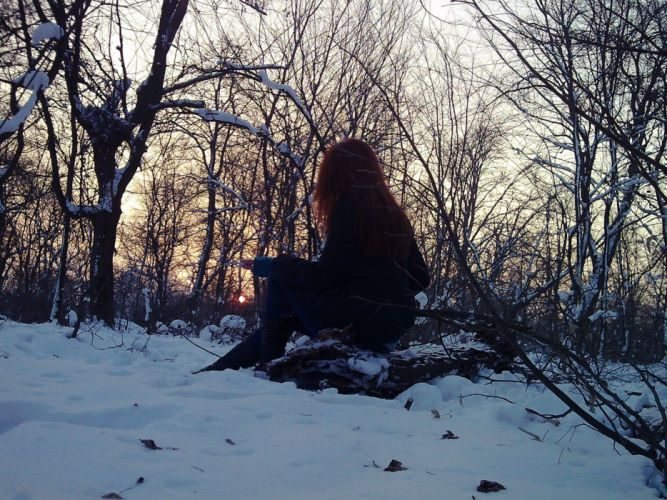 lonely mood sad alone sadness emotion people loneliness Solitude girl redhead witch wiccan wicca wallpaper