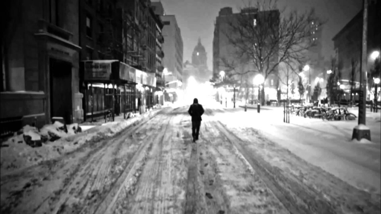 lonely mood sad alone sadness emotion people loneliness Solitude road winter downtown city cities wallpaper