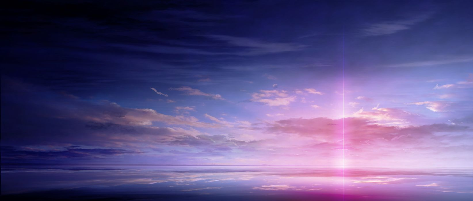 anime scan landscape sky cloud beautiful light color wallpaper