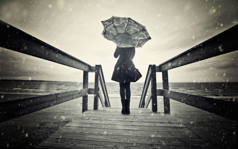 lonely mood sad alone sadness emotion people loneliness Solitude umbrella wallpaper