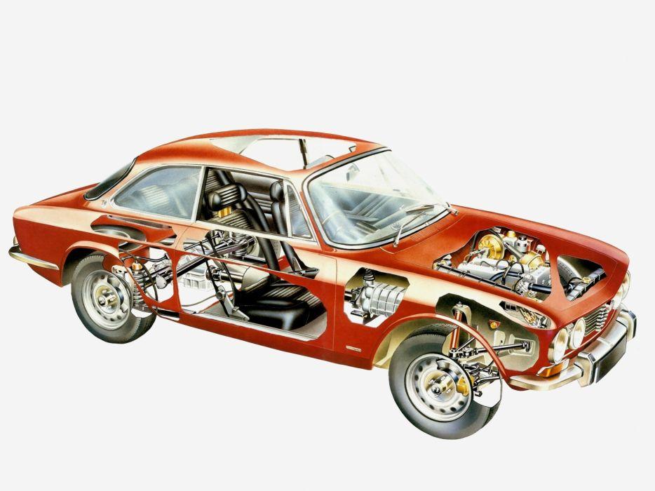 technical cars Alfa Romeo 2000 G T Veloce wallpaper