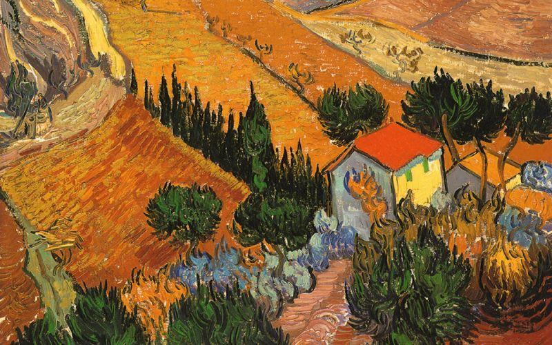 oleo arte campo wallpaper