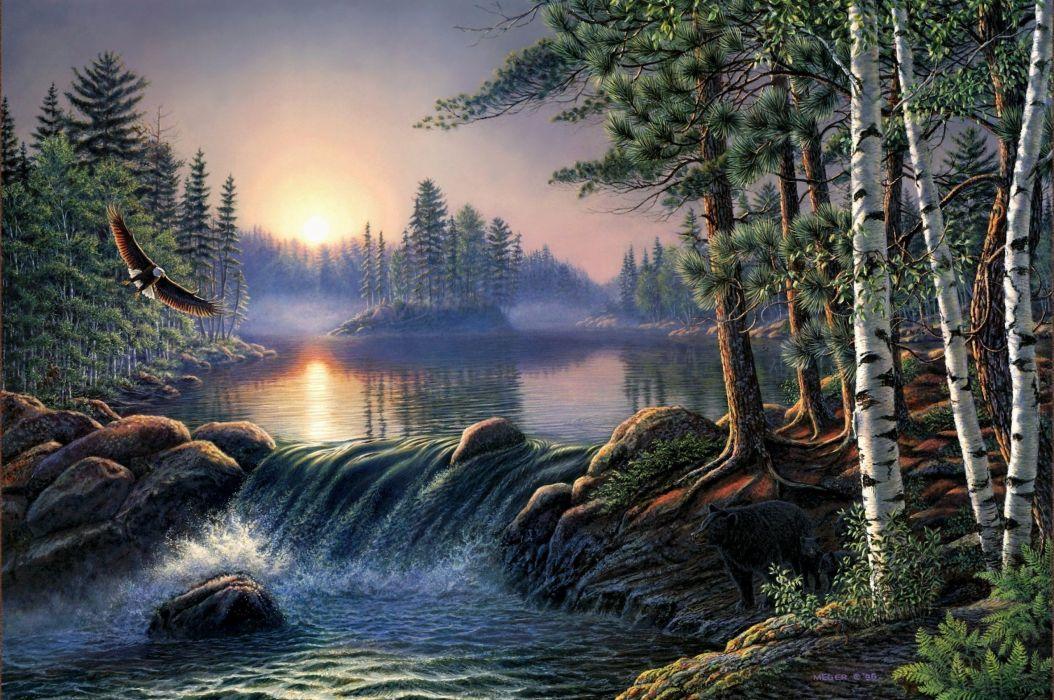 naturaleza paisaje arte pintura wallpaper