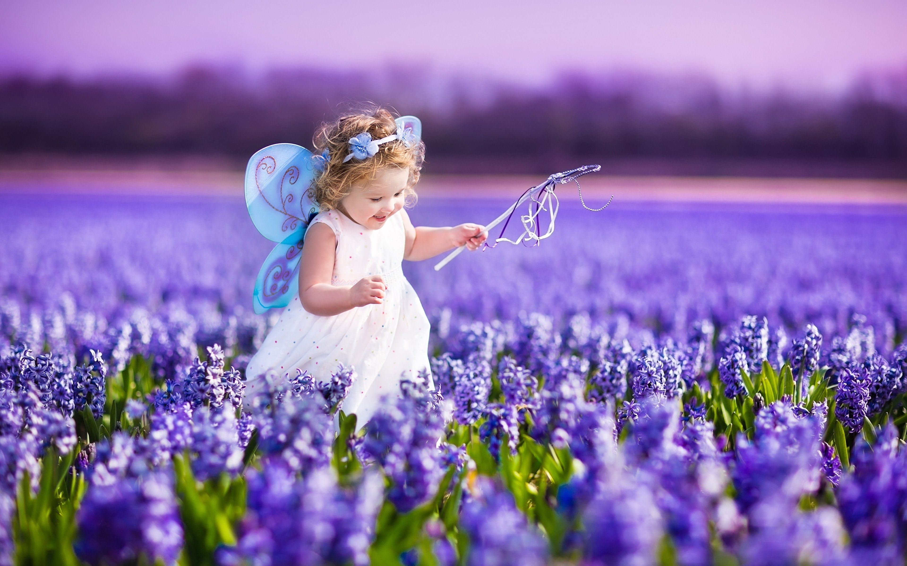 flowers spring kids children childhood purple butterfly princess landscapes nature earth beauty fun joy happy fields girls wallpaper 3840x2400 649031 - Spring Pictures For Children