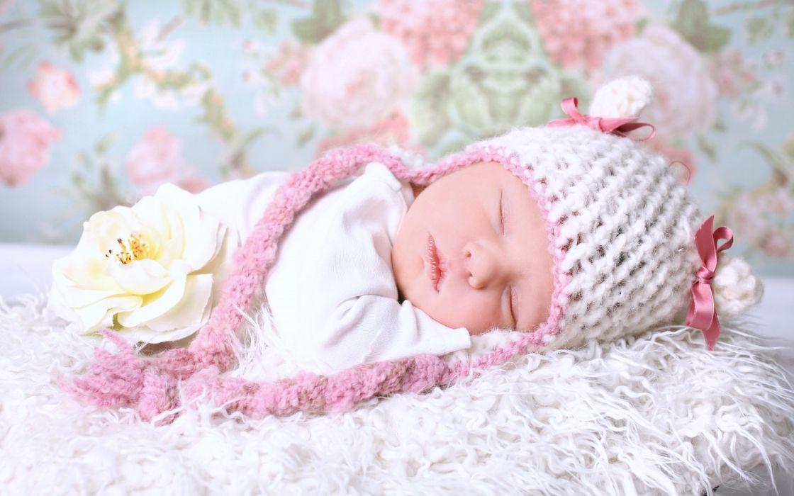 kids children childhood baby life little sleep bed beautiful flower wallpaper