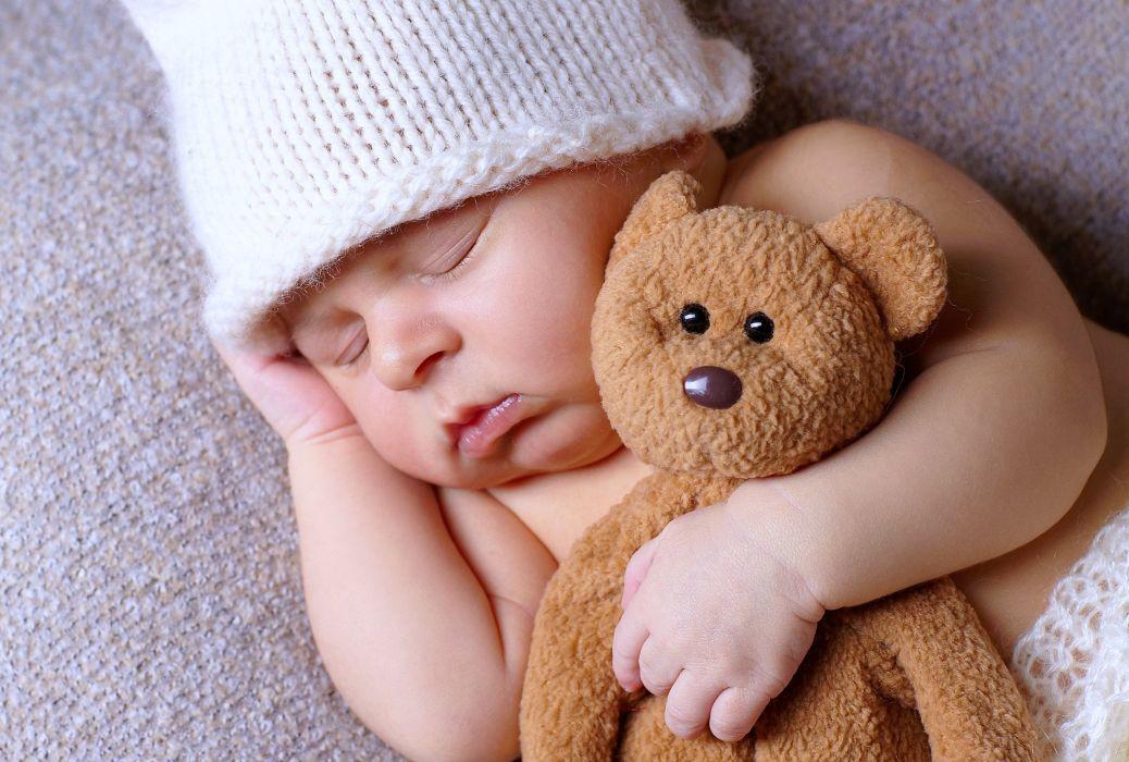 Boy Kids Children Childhood Fun Joy Happy Sleep Teddy Bear Little Dreaming Wallpaper