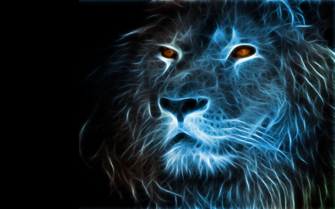 lion lions predator carnivore cat cats fractal artwork d wallpaper