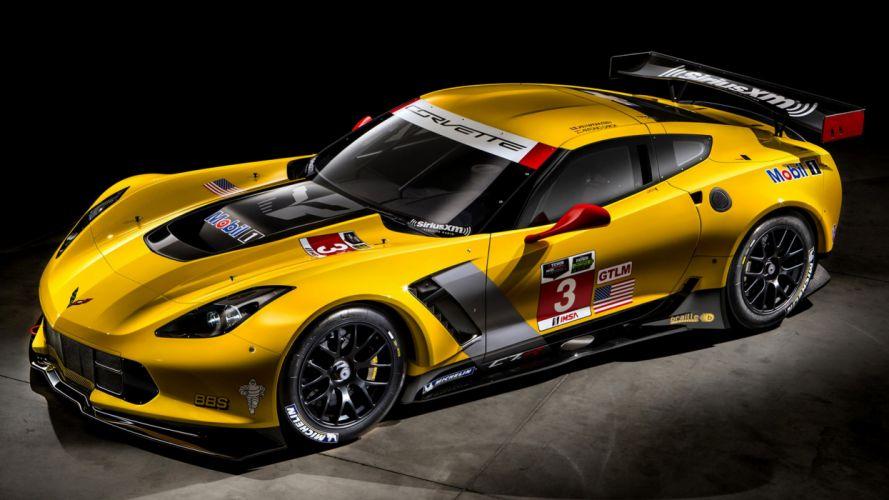 2014 Chevrolet Corvette C7 R GT2 yellow motors Speed sports supercars cars new wallpaper