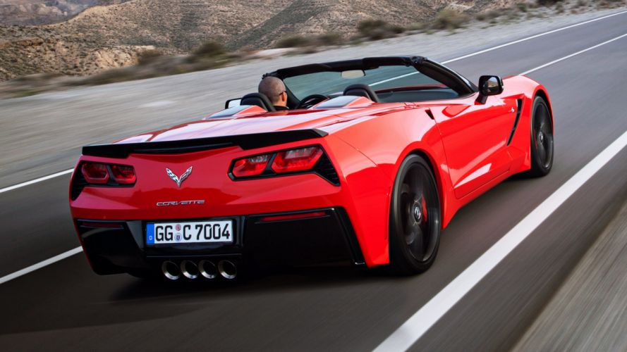 2013 Chevrolet Corvette Stingray Convertible EU supercars cars red road landscapes earth motors speed wallpaper