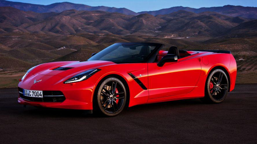 2013 Chevrolet Corvette Stingray Convertible EU supercars cars red road landscapes earth motors speed wallpaper