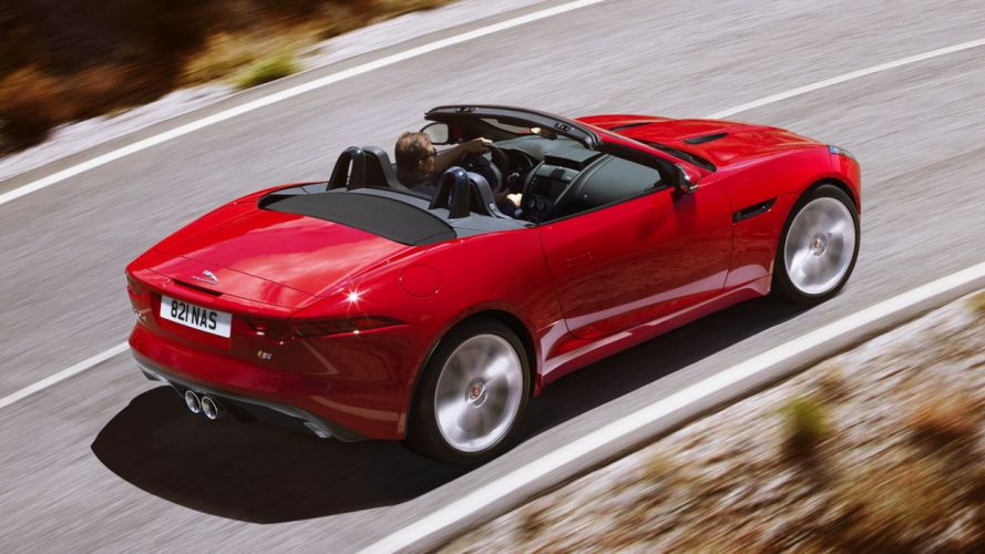 2015 Jaguar F-Type S red cars roof supercars road speed motors landscapes earth life luxury new wallpaper