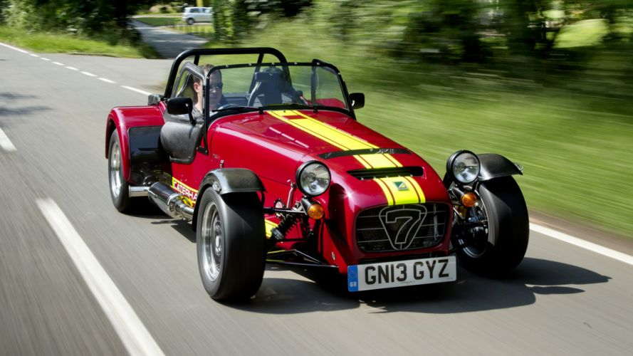 2013 Caterham Seven 620 R cars old classic red road landscapes nature earth motors driver wallpaper