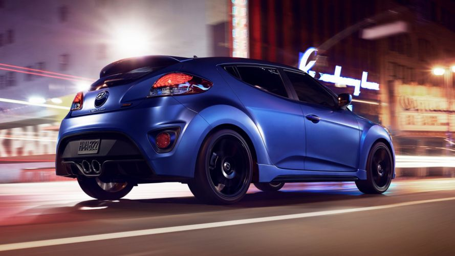 2016 Hyundai Veloster Rally Edition blue new cars speed motors streets wallpaper